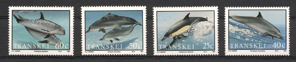 Stamps with Dolphin, Whale from Transkei (image for product #037942)