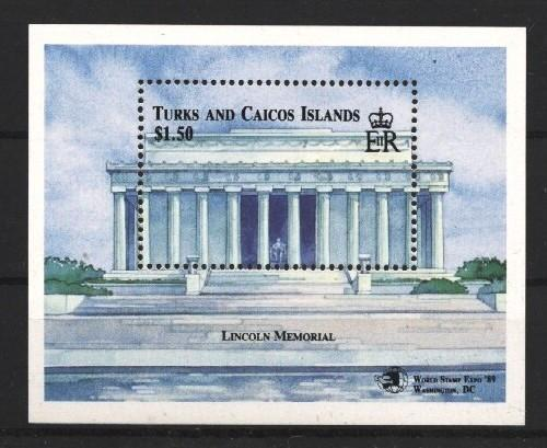 Stamps with Lincoln (Abraham), Buildings from Turks & Caicos Islands (image for product #037970)