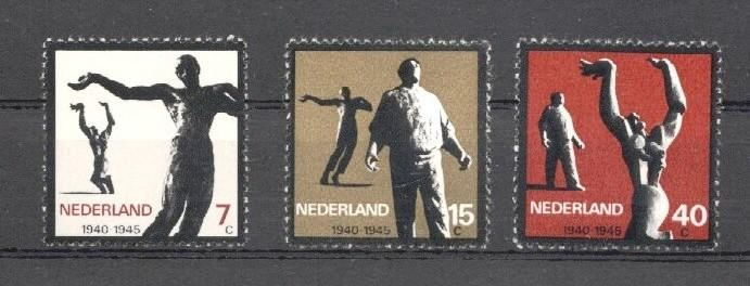 Stamps with Sculpture, Art, World War II, Resistance from Netherlands (image for product #037995)