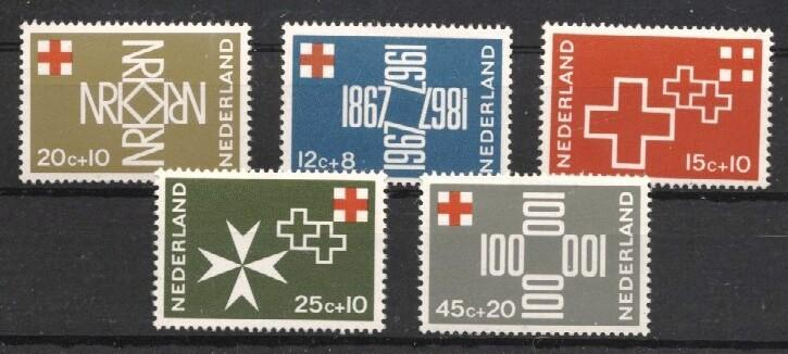 Stamps with Red Cross from Netherlands (image for product #038006)