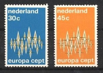 Stamps with Europe CEPT from Netherlands (image for product #038007)