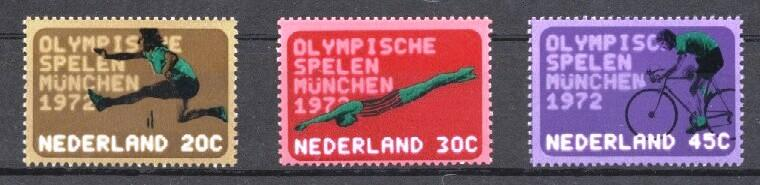 Stamps with Olympic Games, Bicycle, Athletics from Netherlands (image for product #038008)