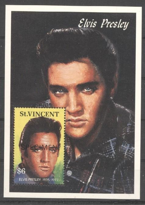 Stamps with Elvis Presley, Popstars from St. Vincent (image for product #038028)