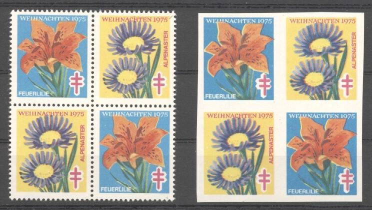 Stamps with Flowers, Tuberculosis from Netherlands (image for product #038118)