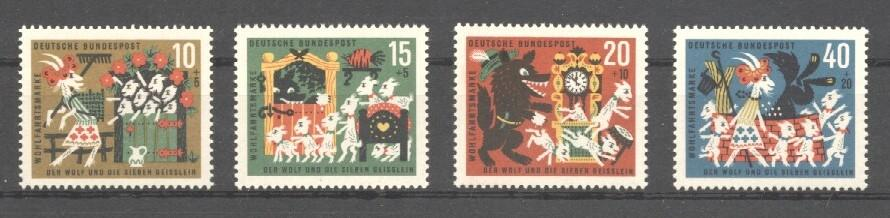Stamps with Fairy Tales from Germany (image for product #038240)