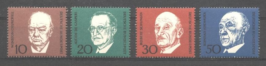 Stamps with Adenauer (Konrad), Churchill from Germany (image for product #038243)