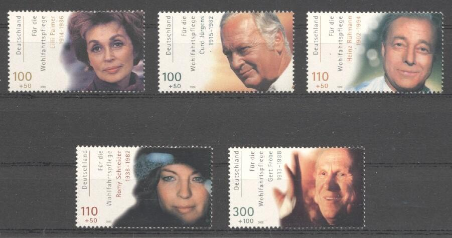 Stamps with Famous Persons, Theatre, Television from Germany (image for product #038259)