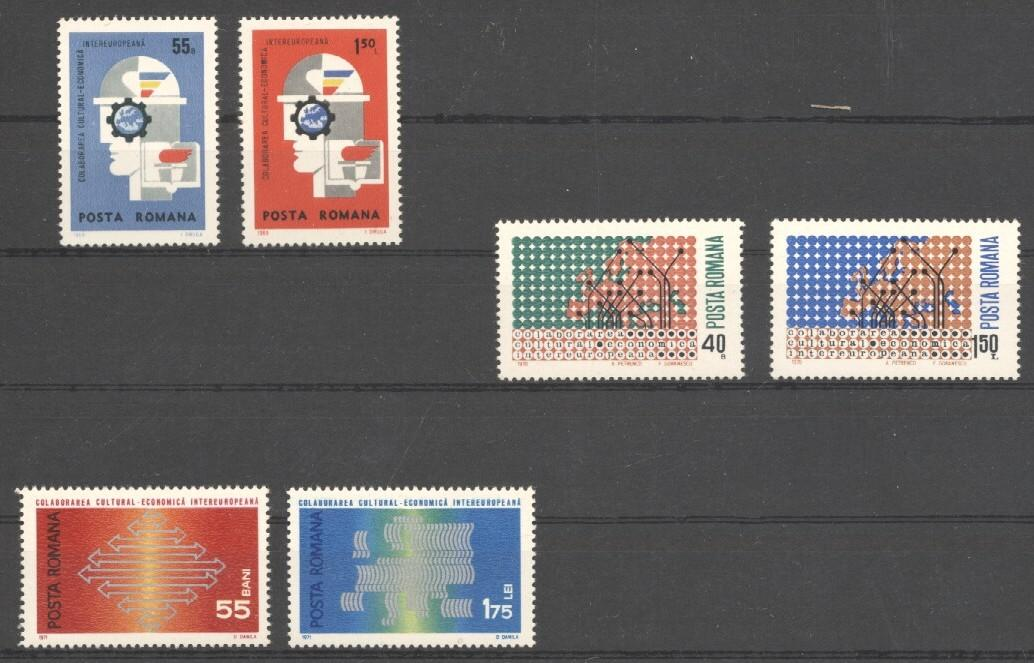 Stamps with Europe from Romania (image for product #038279)