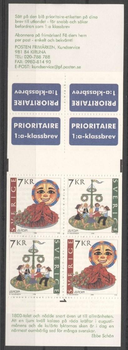Stamps with Europe, Folklore / Fables, Booklet from Sweden (image for product #038283)