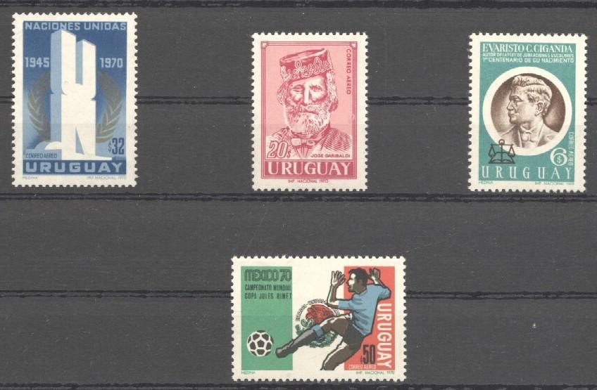 Stamps with Soccer, Miscellaneous from Uruguay (image for product #038291)