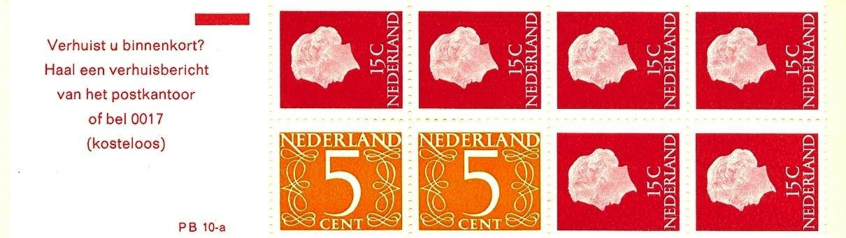 Stamps with Booklet, Definitive Issue from Netherlands (image for product #038314)