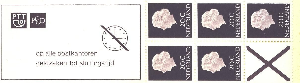 Stamps with Booklet, Definitive Issue from Netherlands (image for product #038316)