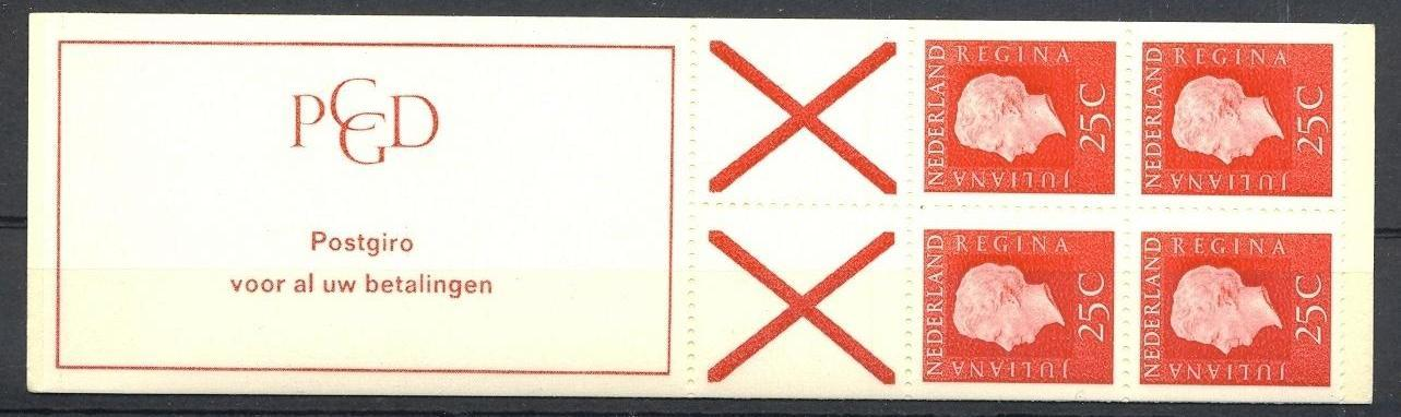 Stamps with Booklet, Definitive Issue from Netherlands (image for product #038319)