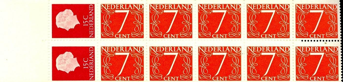 Stamps with Booklet, Definitive Issue from Netherlands (image for product #038324)