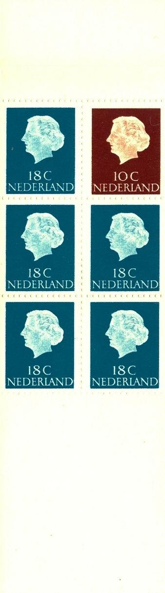 Stamps with Booklet, Definitive Issue from Netherlands (image for product #038328)