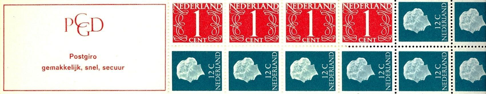 Stamps with Booklet, Definitive Issue from Netherlands (image for product #038330)