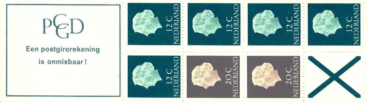 Stamps with Booklet, Definitive Issue from Netherlands (image for product #038332)