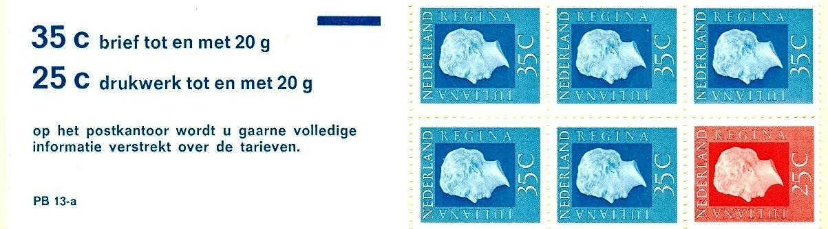 Stamps with Booklet, Definitive Issue from Netherlands (image for product #038338)