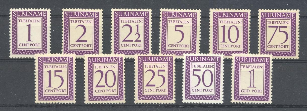 Stamps with Postage Due from Suriname (image for product #038340)