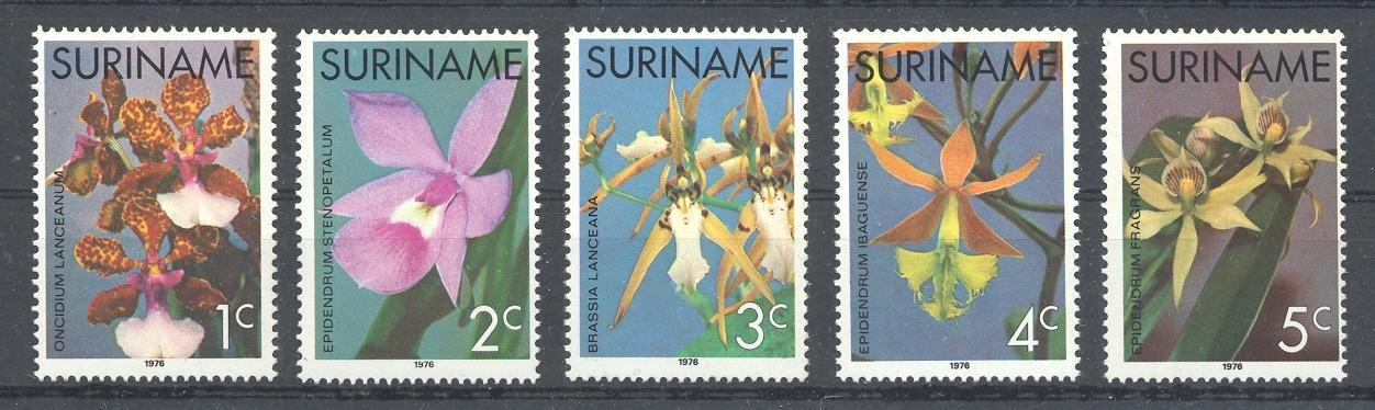 Stamps with Orchids, Flowers from Suriname (image for product #038343)
