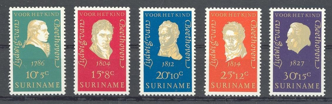 Stamps with Composer, Beethoven from Suriname (image for product #038345)