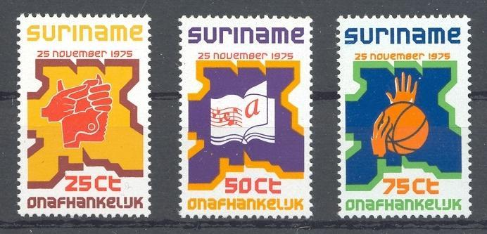 Stamps with Basketball, Culture, Map from Suriname (image for product #038349)