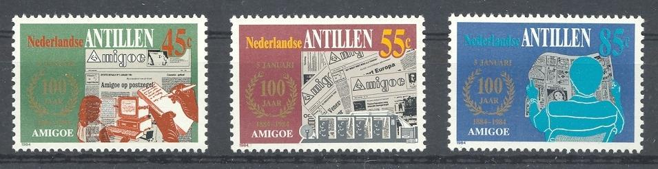 Stamps with Newspaper from Netherlands Antilles (image for product #038361)