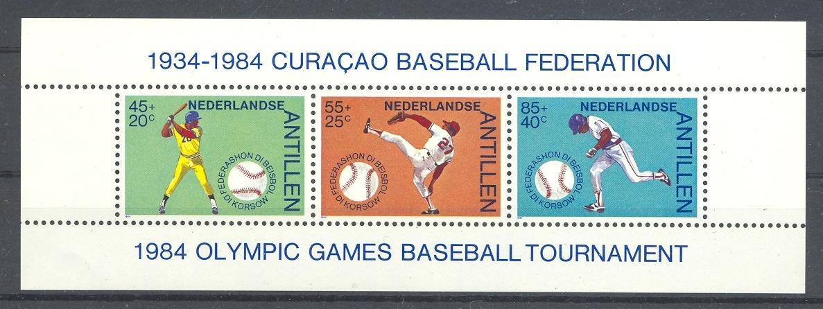 Stamps with Baseball from Netherlands Antilles (image for product #038370)