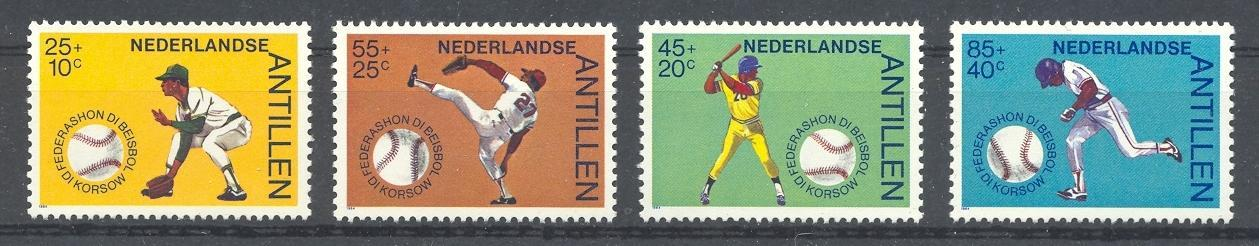 Stamps with Baseball from Netherlands Antilles (image for product #038371)