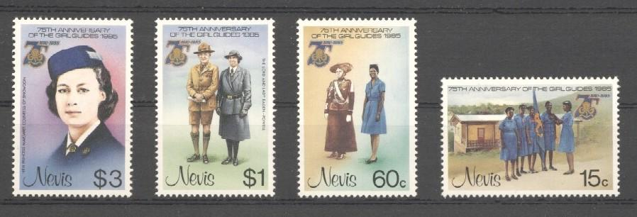 Stamps with Scouting from Nevis (image for product #038445)