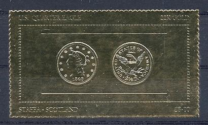 Stamps with Seal, Coins / Banknotes from Staffa (non official) (image for product #038499)
