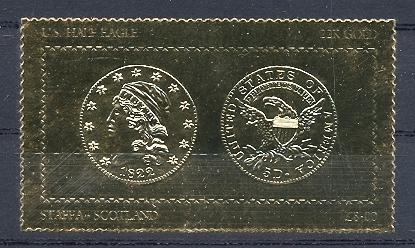 Stamps with Coins / Banknotes, Seal from Staffa (non official) (image for product #038500)
