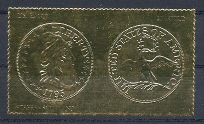 Stamps with Bird, Seal, Coins / Banknotes from Staffa (non official) (image for product #038524)