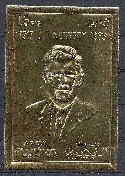 Stamps with President, Kennedy from Fujeira (image for product #038592)