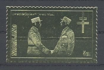 Stamps with De Gaulle from Nagaland (non official) (image for product #038598)