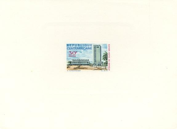 Stamps with Hotel from Centr.Afr.Rep. (image for product #038655)