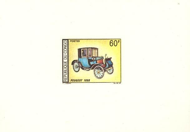Stamps with Oldtimers, Cars from Congo (image for product #038660)