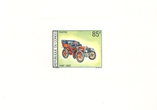 Stamps with Cars, Oldtimers from Congo (image for product #038662)