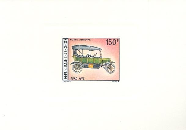 Stamps with Cars, Oldtimers, Ford from Congo (image for product #038663)