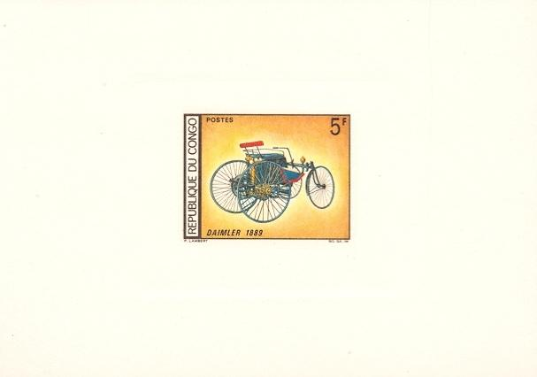 Stamps with Cars, Oldtimers from Congo (image for product #038665)