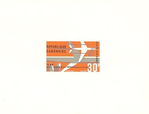 Stamps with Aircraft from Gabon (image for product #038668)