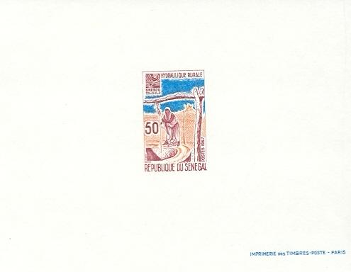 Stamps with Hydrology, Water from Senegal (image for product #038691)