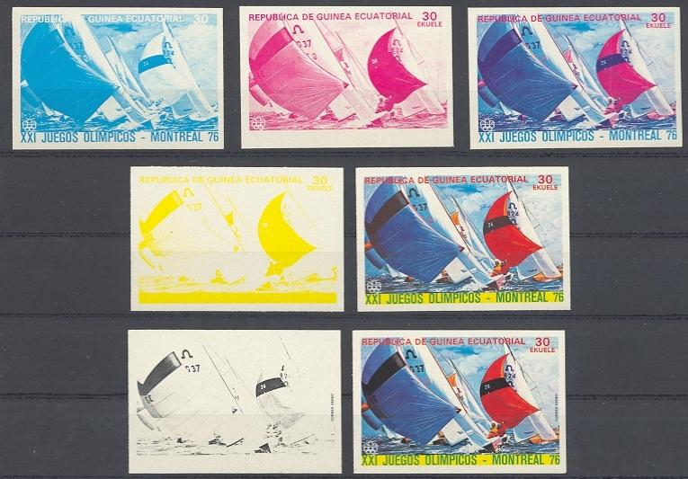 Stamps with Olympic Games, Sailing from Equatorial Guinea (image for product #038734)