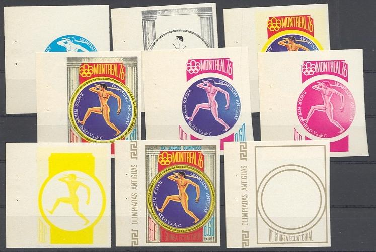 Stamps with Olympic Games, Antiquity, Javelin from Equatorial Guinea (image for product #038750)