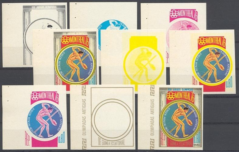 Stamps with Olympic Games, Athletics, Antiquity from Equatorial Guinea (image for product #038752)