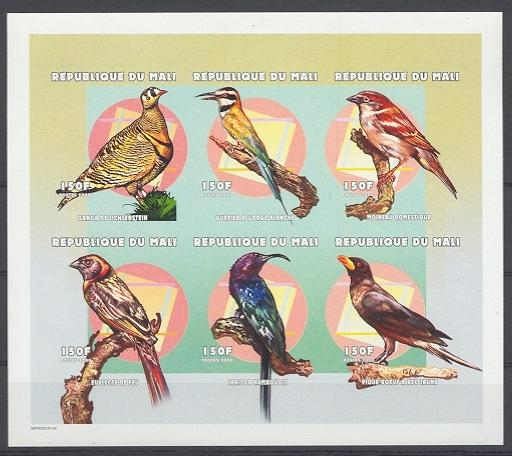 Stamps with Bird from Mali (image for product #038759)
