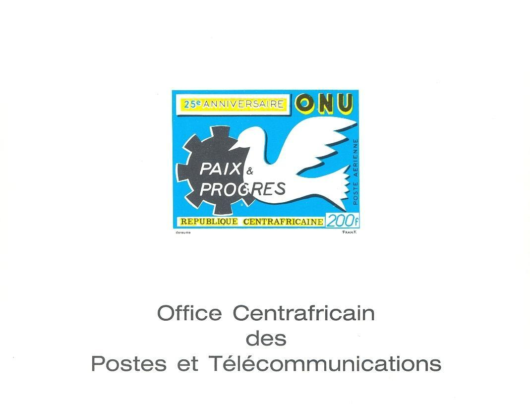 Stamps with Bird, United Nations, Peace from Centr.Afr.Rep. (image for product #038867)