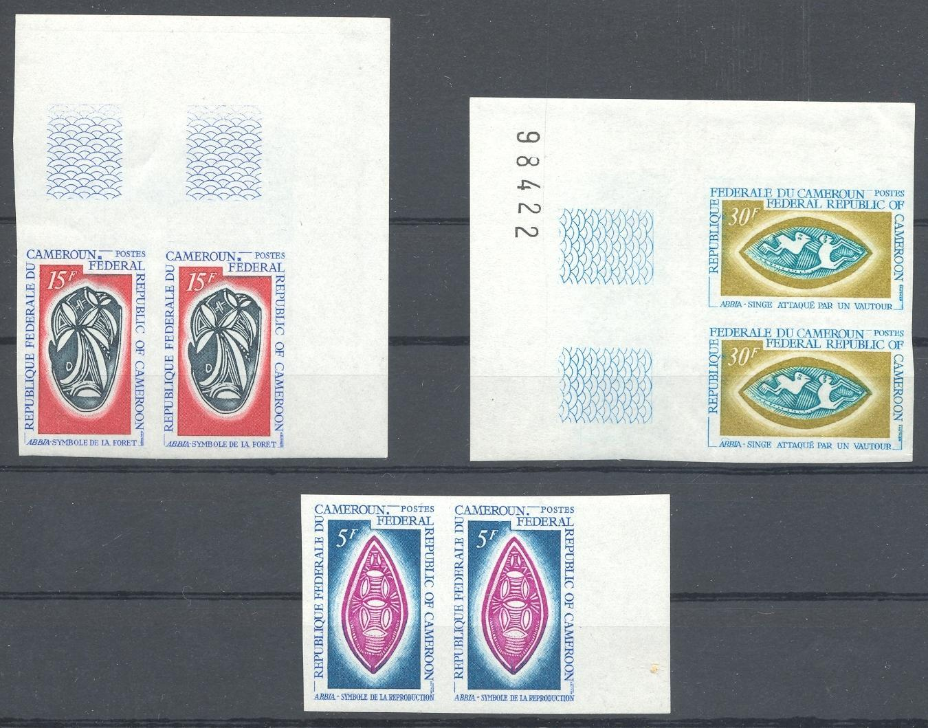 Stamps with Symbols, Forest, Monkey from Cameroon (image for product #039214)