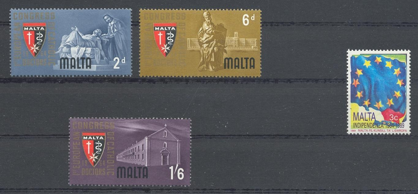 Stamps with Europe from Malta (image for product #039757)