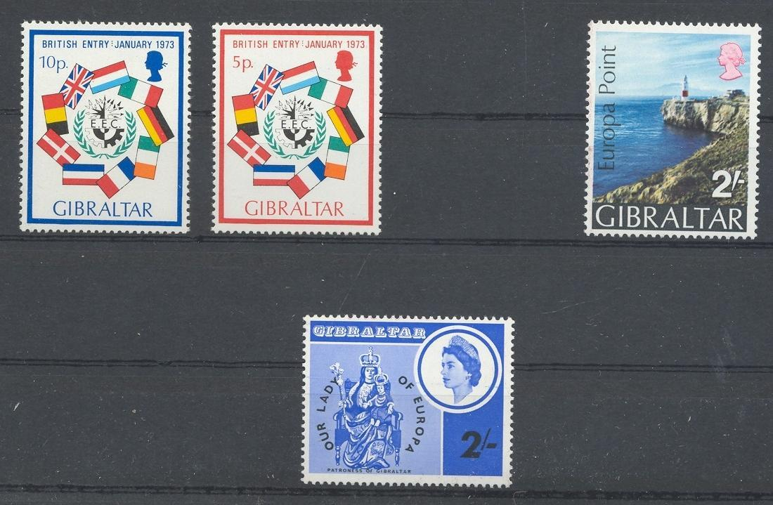 Stamps with Flag, Europe from Gibraltar (image for product #039766)